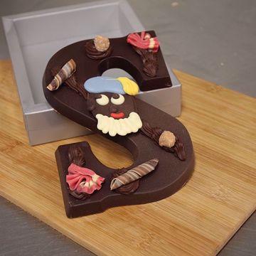 Afbeeldingen van Chocoladeletter Puur 250 gram