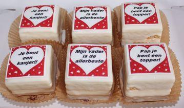 Afbeeldingen van Vaderdag cake petitfours